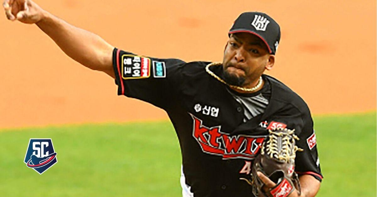 Odrisamer Despaigne ponchó a 11 bateadores en un juego por primera vez en Corea