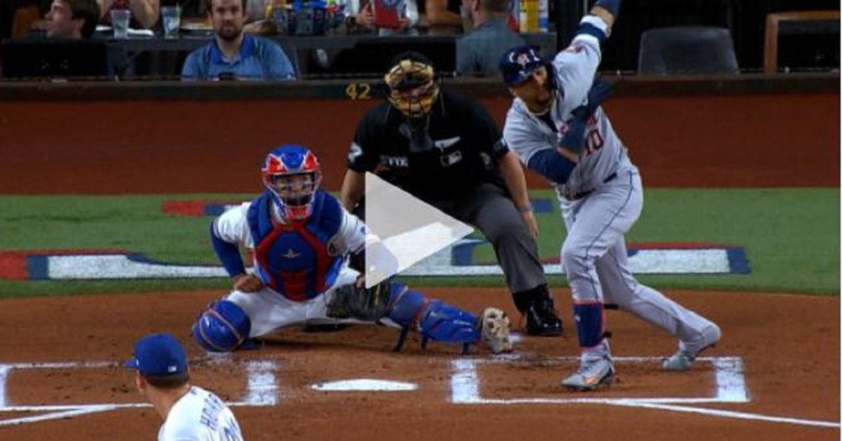 La conexión llegó en la misma 1ra entrada, cuando los Astros atacaron en el Globe Life Field y fabricaron 3